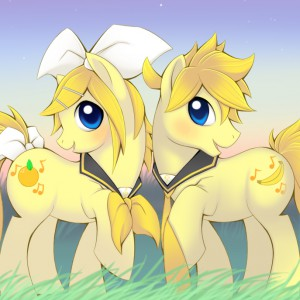 My Little Diva- Kagamine Twins by Nyaasu